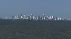 Cartagena Columbia Skyline South America Stock Footage