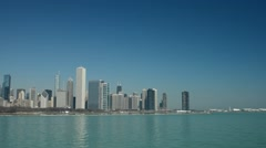 Chicago Skyline Pan from right Stock Footage