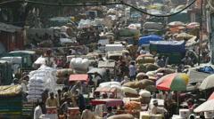 New Delhi bazaar Stock Footage