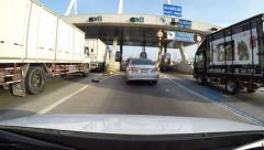 4K driving car on motorway Stock Footage