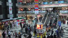Dhaka, Bangladesh, modern shopping mall, escalators, visitors Stock Footage