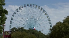 Texas Star Ferris Wheel at the State Fair of Texas - stock footage