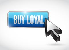 Stock Illustration of buy local button sign illustration design