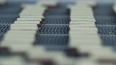 Wafer conveyor Stock Footage