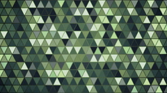 Dark green triangles pattern seamless loop background 4k (4096x2304) Stock Footage