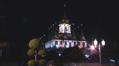Loha Prasat Monastery (Metal Castle) at Bangkok in Thailand Stock Footage