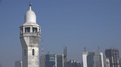 Minaret of the Baitul Mukarram mosque in Dhaka Stock Footage