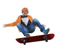 Skate stunts - stock photo