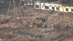 Construction site in Dhaka, Bangladesh Stock Footage