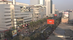Modern shopping mall in Dhaka, exterior view - stock footage