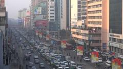 Traffic jam in Tejgaon, a commercial district in Dhaka, Bangladesh Stock Footage