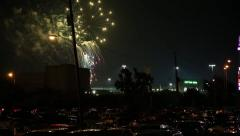 Fireworks at the State Fair of Texas in Dallas, Texas Stock Footage