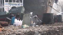 Dhaka, Bangladesh, garbage dump, waste disposal, workers, child labor - stock footage