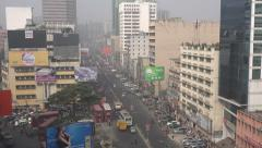 Dhaka's business and financial center Motijheel - stock footage