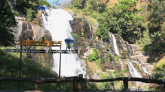 Wachirathan Waterfall Of Chiang mai,Thailand - stock footage