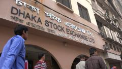 Dhaka Stock Exchange, financial markets, economy, business, trade, Bangladesh Stock Footage