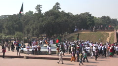 Victory Day Bangladesh, eternal flame in Dhaka Stock Footage