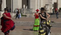 Mexican Dancers at State Fair Stock Footage