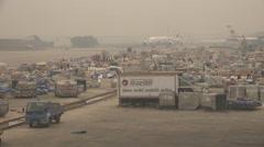Bangladesh, Dhaka International Airport, cargo depot and service area - stock footage