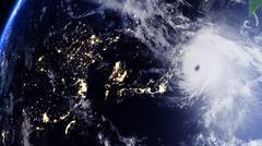 Hurricane Japan South Korea - stock illustration