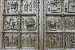 richly decorated ancient gates - stock photo
