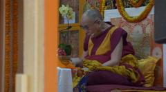 Dalai Lama speech, politics and religion, Tibetan government in exile, India Stock Footage