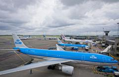 Amsterdam Airport Schiphol, the main international airport of the Netherlands Stock Photos