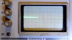 The pulses on the screen of an old oscilloscope - stock footage