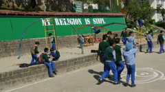 Playground of a Tibetan school in Dharamsala, India Stock Footage
