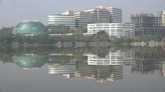Office towers in Hyderabad, one of India's technology hubs Stock Footage