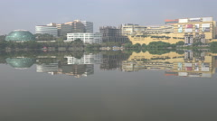 India economy, Hyderabad technology district, skyline modern buildings Stock Footage