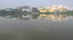India technology hub, Hyderabad city, skyline, modern buildings, office towers Stock Footage