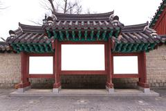 Large blank billboard of Korean tradition label Stock Photos