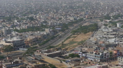 India, Jaipur city, main highway to New Delhi Stock Footage