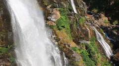 Wachirathan Waterfall of Doi Inthanon National Park, Chiang mai, Thailand Stock Footage