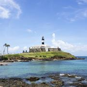 Farol da Barra (Barra Lighthouse) in Salvador, Bahia, Brazil Stock Photos
