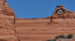 Delicate Arch, Arches National Park 4k Stock Footage