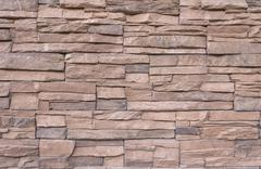 Brown marble brick wall abstract for background - stock photo