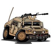 Military Truck Illustration - stock illustration