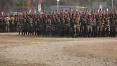 Nepal Army, soldiers hold combat exercise, military training Arkistovideo