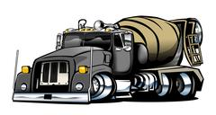Cement Truck Illustration - stock illustration