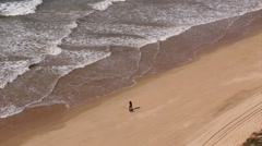 Algarve - Falesia Beach From Above B Stock Footage