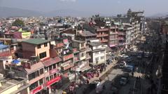 Main street in Boudhanath in Kathmandu, Nepal Stock Footage