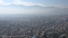 Residential houses in the suburbs of Kathmandu city Stock Footage