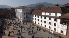 Nepal cultural heritage, Kathmandu Durbar Square Stock Footage