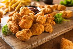 Homemade Crispy Popcorn Chicken - stock photo