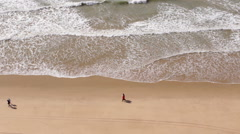 Algarve - Falesia Beach From Above A Stock Footage