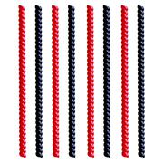 Black and Red Straight Licorice isolated on white - stock illustration