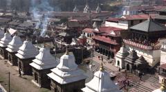 Pashupatinath temple complex in Kathmandu, Nepal Stock Footage