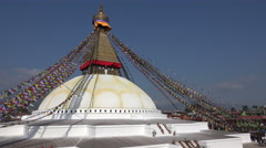Nepal religion, Boudhanath stupa in Kathmandu, Buddhism, building, structure Stock Footage